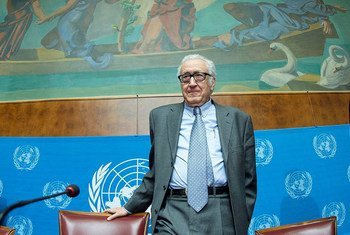 Le Représentant spécial conjoint des Nations Unies et de la Ligue des Etats arabes pour la Syrie, Lakhdar Brahimi.