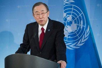 Генеральный секретарь ООН Пан Ги Мун. Фото ООН/Марк Гартен
