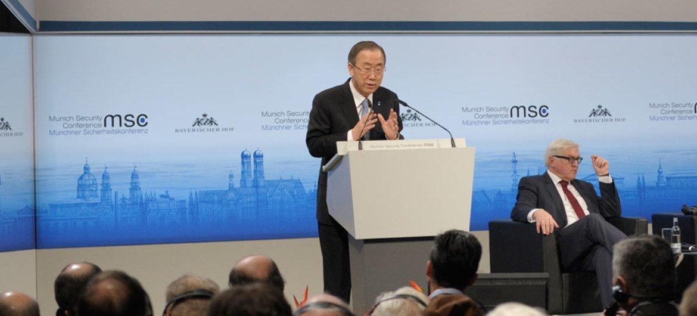 Secretary General Ban Ki-moon addresses the 50th Munich Security Conference.