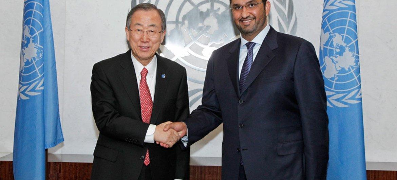 Ban Ki-moon recibe al Dr. Sultan al Jaber, Ministro de Estado y Enviado Especial para Energía y Cambio Climatico, de Emiratos Árabes Unidos  Foto: