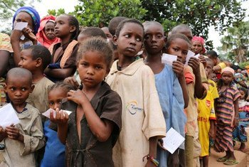Niños desplazados en la República Centroafricana  Foto:  PMA/Alexis Masciarelli