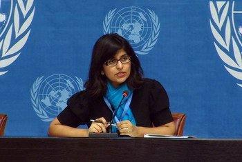 人权高专办发言人沙姆达萨尼资料图片。联合国多媒体