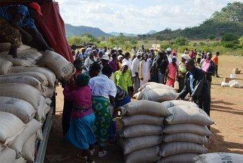 Distribution de céréales aux personnes les plus vulnérables