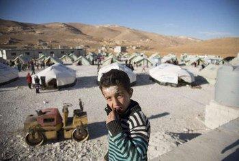 Un garçon syrien réfugié à Arsal au Liban.