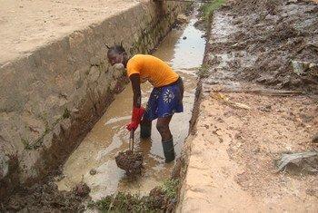En République centrafricaine, le projet du PNUD initiera des travaux publics visant à réparer les infrastructures endommagées. Photo PNUD
