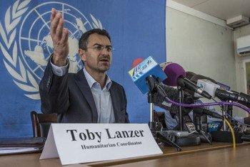 Le Coordinateur humanitaire au Soudan du Sud, Toby Lanzer. Photo MINUSS/Isaac Billy