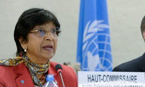 High Commissioner for Human Rights Navi Pillay addresses the opening of the twenty-fifth regular session of the Human Rights Council.