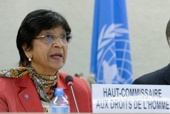 La Haut-Commissaire des Nations Unies aux droits de l'homme, Navi Pillay.