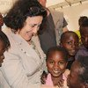 Special Representative for Children and Armed Conflict, Leila Zerrougui, visiting the Central African Republic in December 2013, where more than 2 million children have had their lives ripped apart by violence.