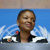 Under-Secretary-General for Humanitarian Affairs Valerie Amos holds press conference in Geneva.