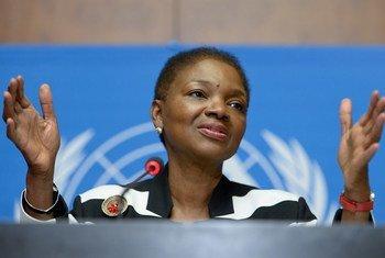 La Secrétaire générale adjointe aux affaires humanitaires, Valerie Amos. Photo ONU/Jean-Marc Ferré