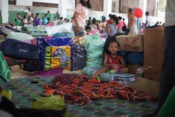 Afectados por el tifón Haiyan en Filipinas  Foto.OCHA/Jennifer Bose