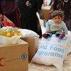 Distribución de alimentos entre la población siria  Foto: PMA/Dina El-Kassaby