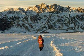 Montañas Altai en Mongolia. Foto: UNICEF/NYHQ2010-0432 Andrew Cullent