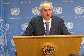Stéphane Dujarric, porte-parole du Secrétaire général.