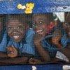 enfants dans une école à Monrovia au Libéria.