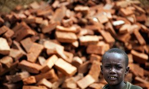 A boy in Kutum, North Darfur, Sudan. The town is patrolled by the South African contingent of the African Union-United Nations Hybrid Operation in Darfur (UNAMID).