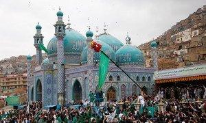 Foto de arquivo mostrando afegãos celebrando o nowruz