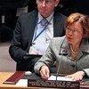 La Representante Especial del Secretario General de la ONU para Haiti, Sandra Honoré  Foto.ONU/ JC McIlwaine