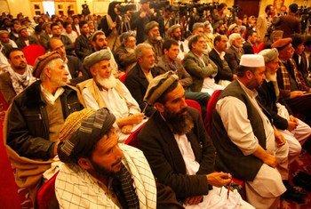 La Commission électorale indépendante de l'Afghanistan lors d'une réunion le 24 mars 2014.
