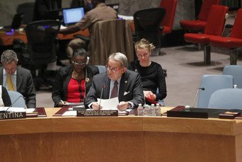 Head of the UN Integrated Peacebuilding Office in Sierra Leone (UNIPSIL), Jens Anders Toyberg-Frandzen, delivering his final briefing to the Security Council.