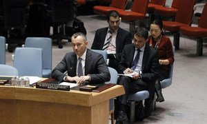 Special Representative Nickolay Mladenov briefs the Security Council.