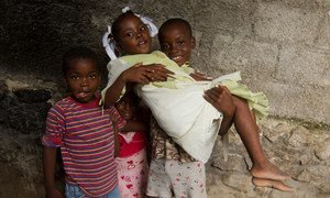 The cholera outbreak which has affected Haiti since October 2010 appears to have abated but is still considered the largest in the Western Hemisphere. Photo Logan Abassi UN/MINUSTAH