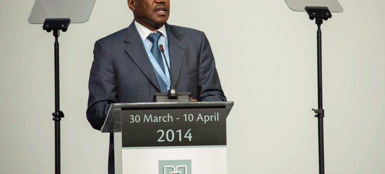 ITU Secretary-General Hamadoun Touré speaking at the World Telecommunication Development Conference in Dubai.