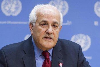 L'ambassadeur de la Palestine auprès des Nations Unies, Riyad Mansour. Photo ONU/Mark Garten