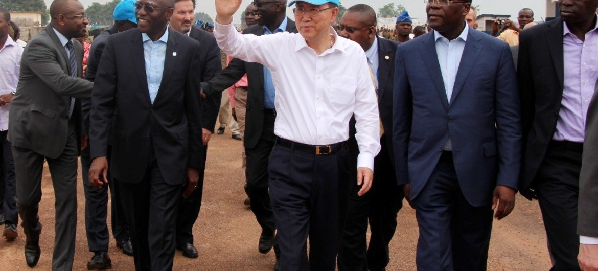 Secretary-General Ban Ki-moon visited the Central African Republic on 5 April to spotlight the ongoing crisis.