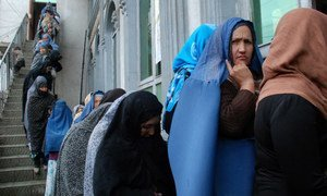 Women in line to vote during the 5 April 2014 elections in Afghanistan. Photo: UNAMA/Zachary Golestani