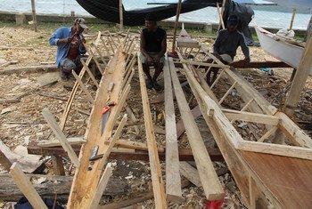 La communauté de pêcheurs de Concepcion a été ravagée par le typhon Haiyan. Photo OCHA/Gemma Cortes