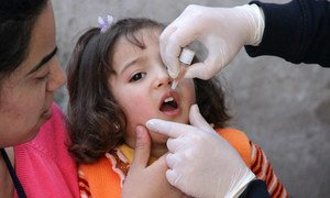Polio vaccination campaigns have begun in Syria, Iraq and Egypt, aiming to reach more than 20 million children.