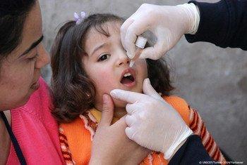 Vacunación contra la polio en Siria  Foto: UNICEF/Ayberk Yurtsever