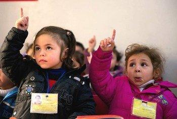 روضة أطفال تدعمها اليونيسف في حمص، سوريا. المصدر: اليونيسف / شهزاد نوراني