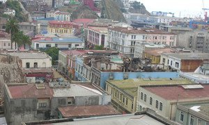 The city of Valparaiso, before the devastating fires.