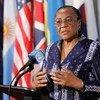 La presidenta de turno del Consejo de Seguridad, la embajadora de Nigeria U. Joy Ogwu   Foto archivo:Paulo Filgueiras