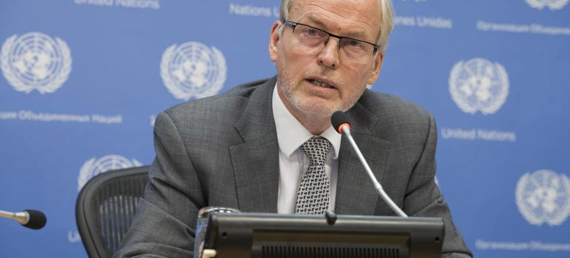 Special Representative and head of the UN Assistance Mission in Somalia (UNSOM) Nicholas Kay.