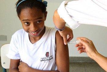 Vacunación en Brasil Foto: Video still