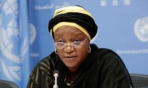 Special Representative on Sexual Violence in Conflict Zainab Bangura briefs the press.