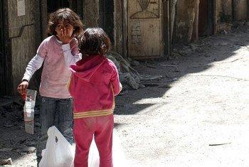 Des enfants palestiniens à Jérusalem-Est. Photo UNRWA