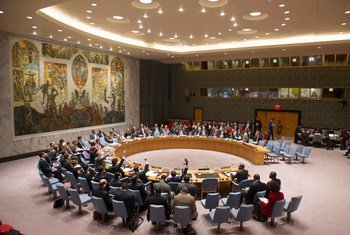 Security Council members unanimously adopt resolution 2153 (2014), maintaining arms sanctions on Côte d'Ivoire until 30 April 2015.