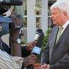 El responsable de las operaciones de paz de la ONU, Hervé Ladsous en declaraciones a la prensa.