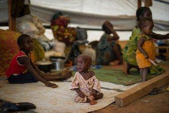 Desplazados en Bangui.  Foto:OCHA/Phil Moore
