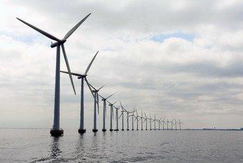 Turbinas para generar energía eólica.