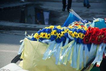 Un mémorial à Kiev.