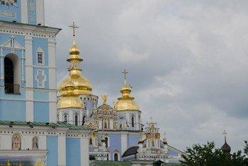 La cathédrale Saint-Michel, Kiev.