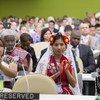 Participantes en el Foro Permanente de la ONU para las Cuestiones Indigenas  Foto:  ONU/Eskinder Debebe