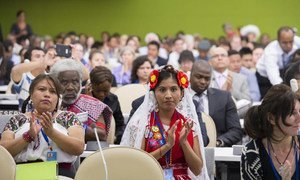 UN Permanent Forum on Indigenous Issues opens its 2014 session at UN Headquarters.