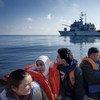 Des réfugiés syriens secourus en Méditerranée par la marine italienne. Photo HCR/A. d'Amato